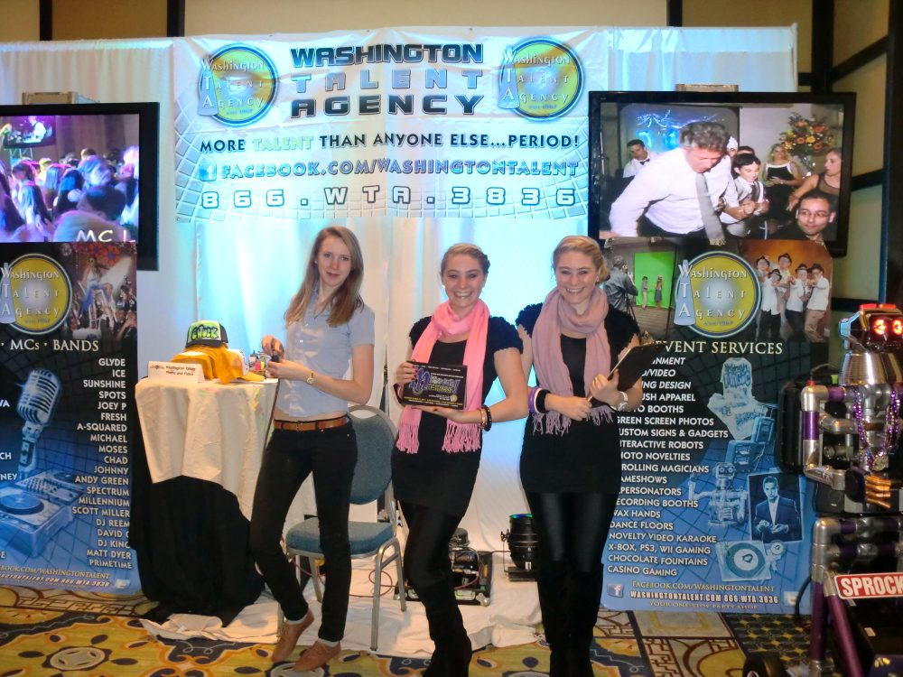 Washington Talent is a frequent exhibitor at Milestones Party & Event Planning Expo